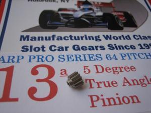 ARP pignone 13 denti, modulo 64, 5 gradi di angolazione, foro 2 mm