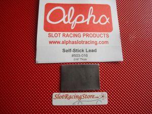 Alpha piombo con adesivo, spessore 0,41mm (.016 inch)