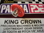 """Parma corona """"King Crown"""" nylon, modulo 48, 29 denti, per assali da 1/8"""""""