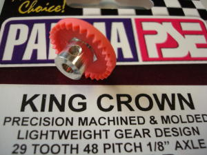 "Parma corona ""King Crown"" nylon, modulo 48, 29 denti, per assali da 1/8"""