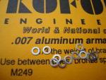 """Koford spessori motore, spessore .007"""" , alluminio. 12 per confezione"""