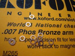 """Koford spessori motore, spessore .007"""" , bronzo. 12 per confezione"""