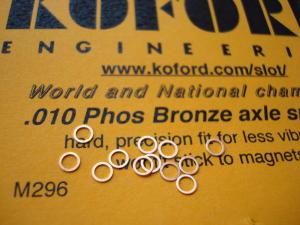 "Koford spessori per assali 3/32"" , spessore .010"" , bronzo. 12 per confezione"