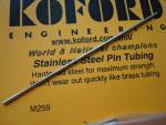 Koford tubicino in acciaio con foro per spilli