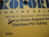 Koford fermo in ottone per tubicini acciaio portaspilli
