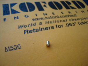 """Koford fermo in ottone per tubicini da .063"""""""