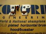 Koford portacarboncini orizzontali in alluminio, dorati, per tutte le testine Koford