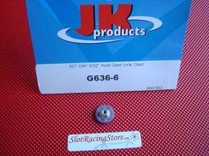 "JK corona nylon ultra leggera, modulo 64, 36 denti, per assali 3/32"""