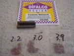 Difalco 3 sets di resistenze per Difalco HD30: 64, 87, 113 ohms di resistenze totali per G15,G20,G27,G7,Eurosport.