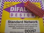 Difalco resistenza da 78 ohm per pulsante Difalco HD30