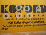 """Koford spessori pick-up da .005""""  in teflon"""
