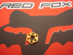 Red Fox dado pick-up da 9mm in ottone, forato.