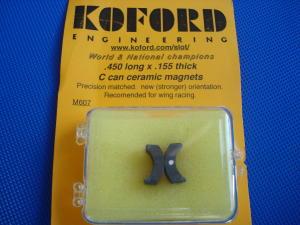 """Koford magneti ceramici per cassa C,  lunghezza:.450"""" (11,50mm.), spessore:.155"""" (3,95mm)"""