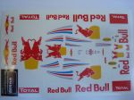 Red Bull Racing RB8 F1 2012 adesivi scala 1/32