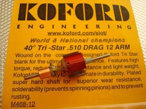 """Koford indotto Tri-Star G12, diametro .510"""" , anticipo 40 gradi"""