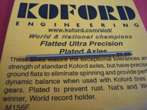 """Koford assale diametro 3/32"""" con flat per bilanciamento"""