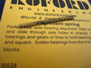 """Koford molla da assale 3/32"""" per allineamento bronzine"""
