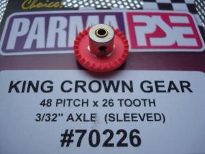 """Parma corona """"King"""" in nylon, modulo 48, 26 denti, con riduttore per assali da 3/32"""""""