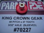 """Parma corona """"King"""" in nylon, modulo 48, 27 denti, con riduttore per assali da 3/32"""""""