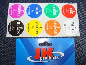 JK bollini colorati con numeri per piste a 8 corsie; confezione da 200 fogli
