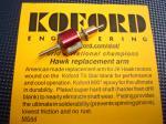 Koford indotto Hawk, 75t31, anticipo 18 gradi